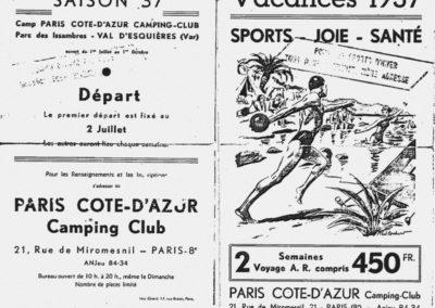 Réclame Vacances 1937
