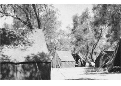 1952 Les tentes de Corfou