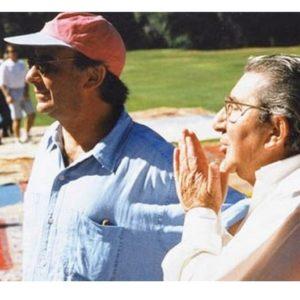 Serge et Gilbert Trigano lors d'un anniversaire du Club
