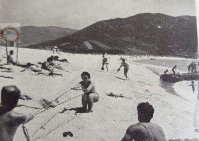 Ski nautique sur la plage