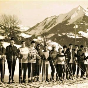 Groupe ski 1957 Photo Hoi