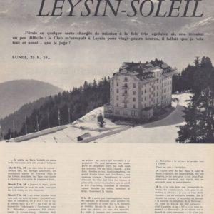 Leysin soleil Trident 68  Janvier 1960