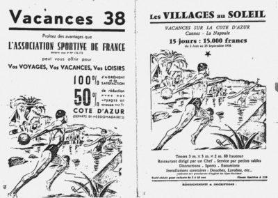 Réclame Vacances 1938
