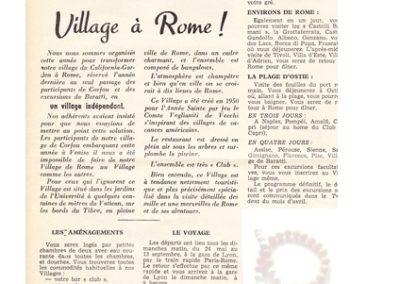 Un village à Rome