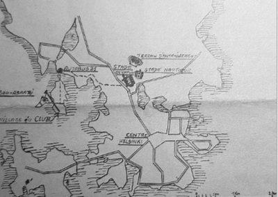Le plan de situation du village