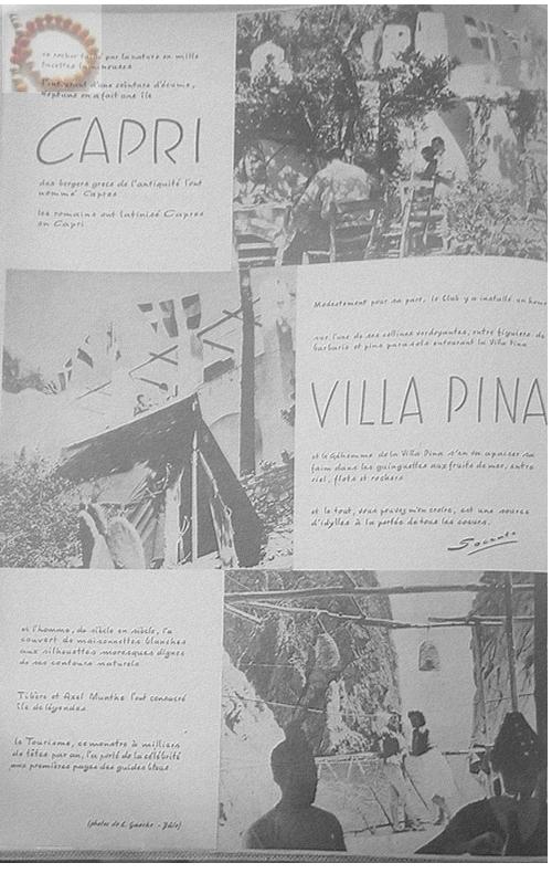 Villa Pina Club Méditerranée Année 1956