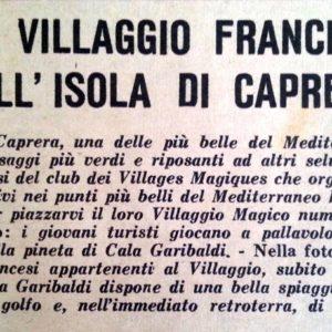 Village Magique Caprera 1955
